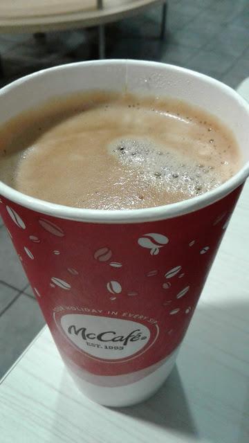 large McDonald's Americano coffee