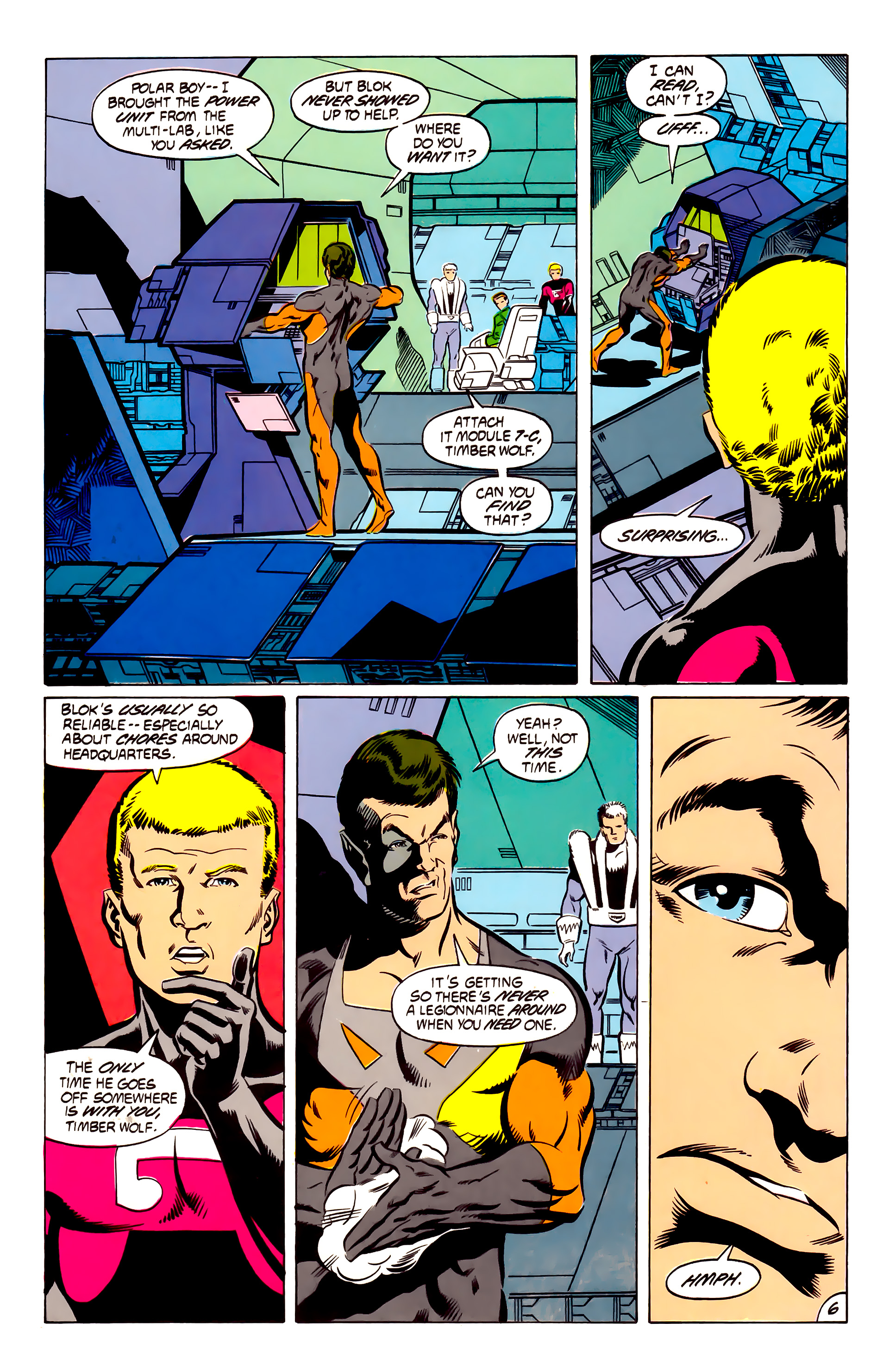Legion of Super-Heroes (1984) 53 Page 6
