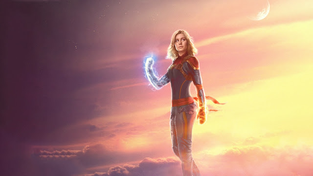 Papel de parede Vingadores: Guerra Infinita Capitã Marvel Brie Larson para PC, Notebook, iPhone, Android e Tablet.