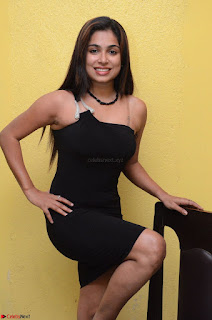 Vrushali Gosavi in strapless Short Black Dress At Follow Follow U Audio Launch 036.JPG