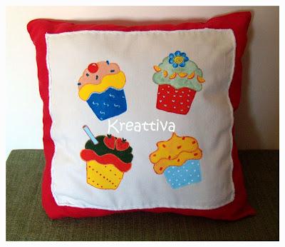cuscino con cupcake