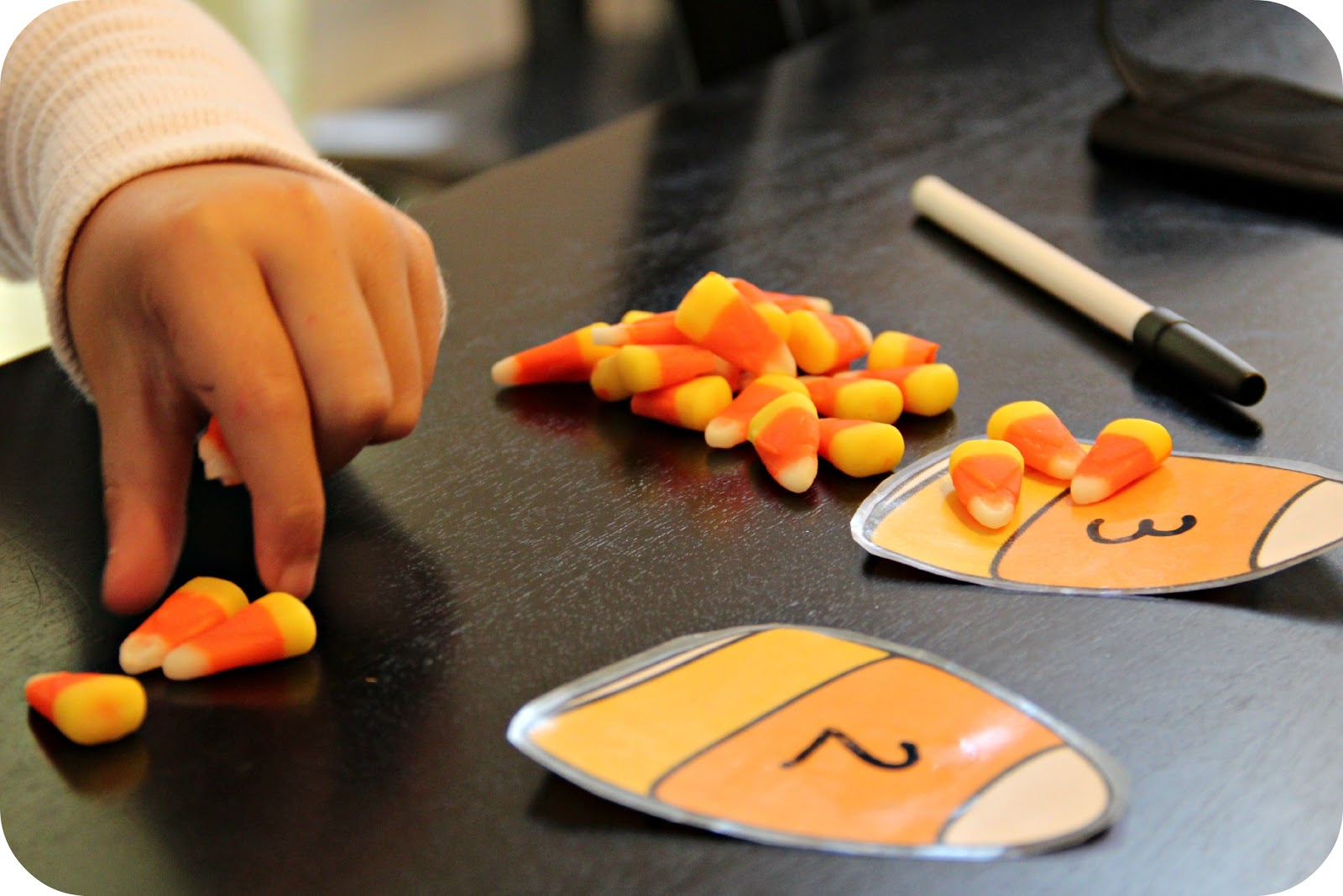 Blue Skies Ahead Candy Corn Counting Activity