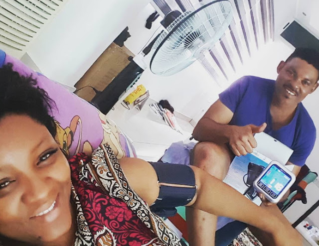 omotola jalade develops high bp