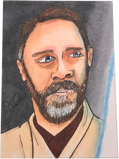 Jedi Knight Sketch Card
