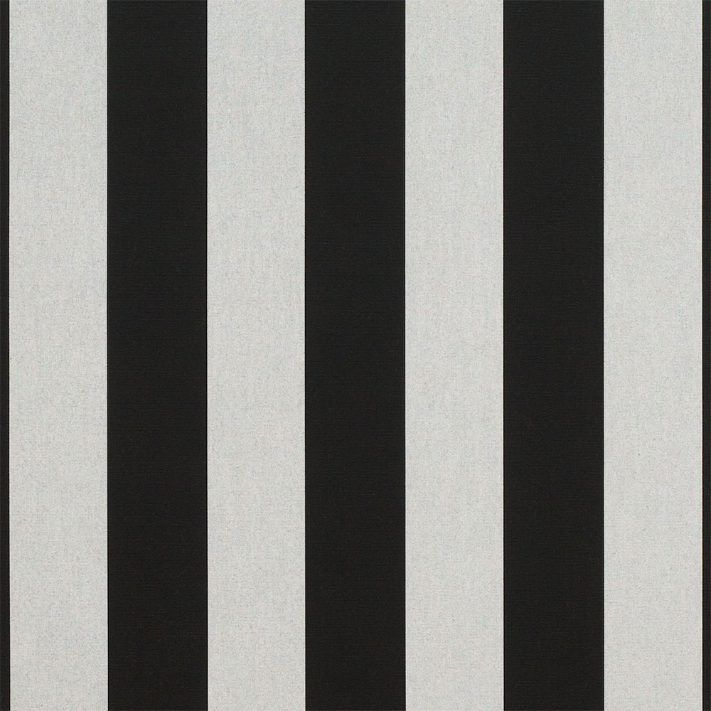 Vintage awnings anticipating spring fabric arrival for Black and white fabric