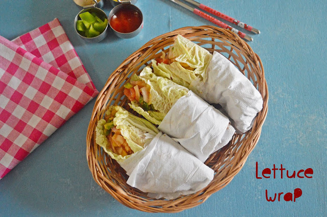 Vegetable  Lettuce Wraps | Healthy Veg Snacks
