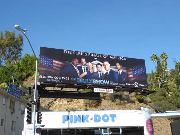 Daily Show Trevor Noah Series finale of America billboard