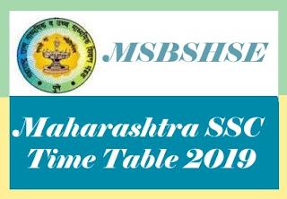 SSC Time table 2019 Maharashtra, Maharashtra 10th Time table 2019, Maharashtra SSC Time table 2019