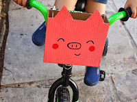 DIY Cardboard Kid Bike Basket