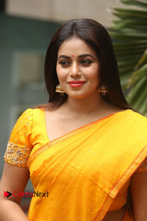 Actress Poorna Pictures in Saree at Avanthika Movie Opening  0010