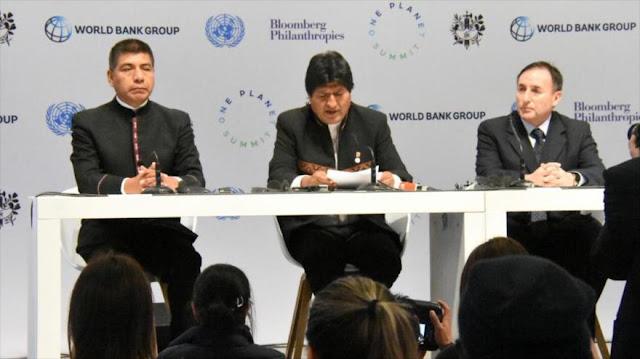 Morales exige a los países desarrollados pagar su deuda climática