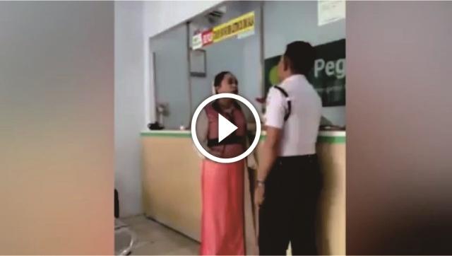 Ngamuk Di Pegadaian Dan Pukuli Satpam, Video Wanita Ini Menjadi Viral Di Media Sosial