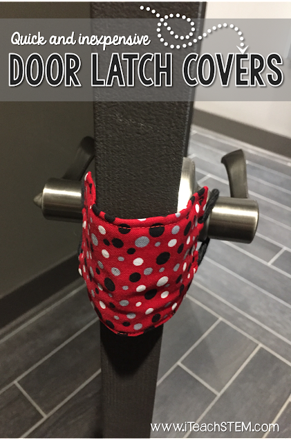 DIY Teacher Hack: An easy and inexpensive way to make door latch covers out of items found around the house. Use to prevent classroom doors from automatically locking. These could even be great to use at home on those doors I don't want my little ones to get locked behind accidentally.
