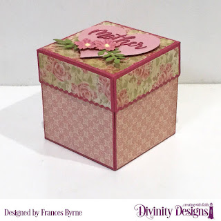 Divinity Designs Stamp Set: Daughter's Best Friend  Custom Dies: Explosion Box, Explosion Box Pockets & Layers, Mini Box, Festive Favors (heart), Family Names 1, Long & Lean Letters, Mini Bow, Squares, Scalloped Squares, Rectangles, Scalloped Rectangles  Paper Collection: Blushing Rose