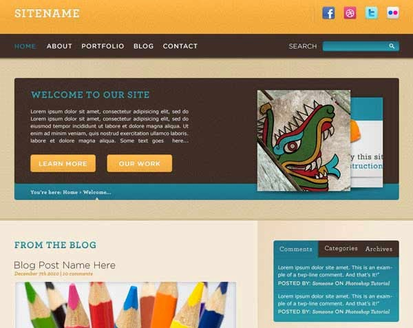 Convert a Warm, Cheerful Web Design to HTML and CSS