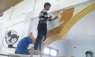 Kaligrafi mihrab masjid pekanbaru