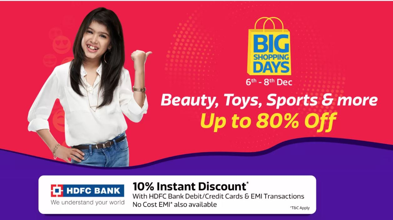 c08c624f0689f7 Flipkart BIG Shopping Days from 6th -8th - Indianwebdeals