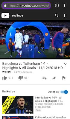 URL Asli Youtube