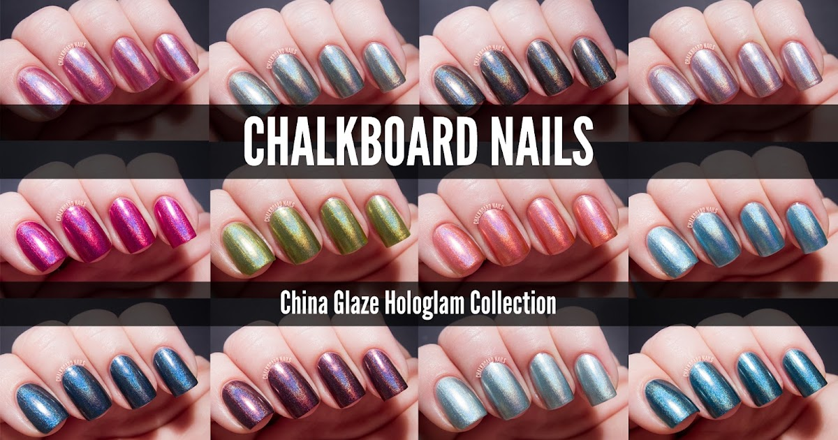 China Glaze Hologlam Collection Swatches And Review