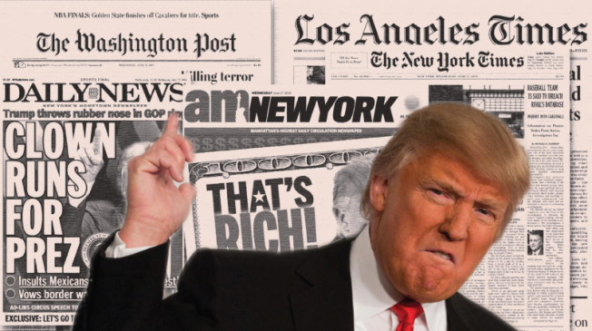 Breaking News: US President, Trump Bans New York Times, CNN, LAT