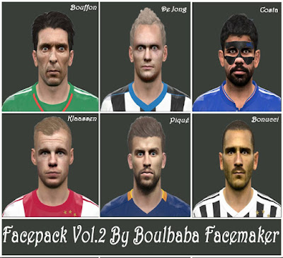 PES 2016 FacePack Vol. 2 By Boulbaba Facemaker