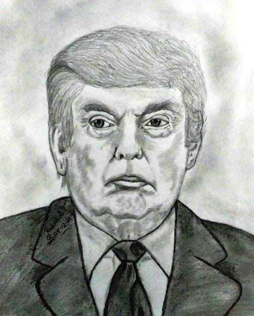 PENCIL DRAWING - Donald Trump