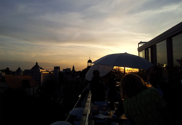 Rooftop of the hotel Bayrischer Hof, sundowner, Blue Spa