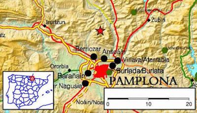 Un terremoto muy sentido sacude toda la comarca de Pamplona