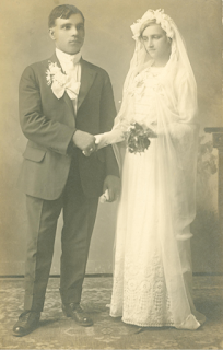 Frank Bida and Veronica Sue Galik on their wedding day