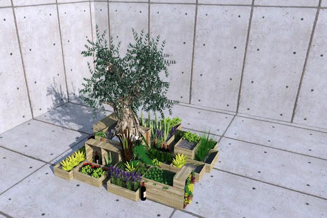 gradina interior, peisagistica interior, plante exotice, randare, proiect