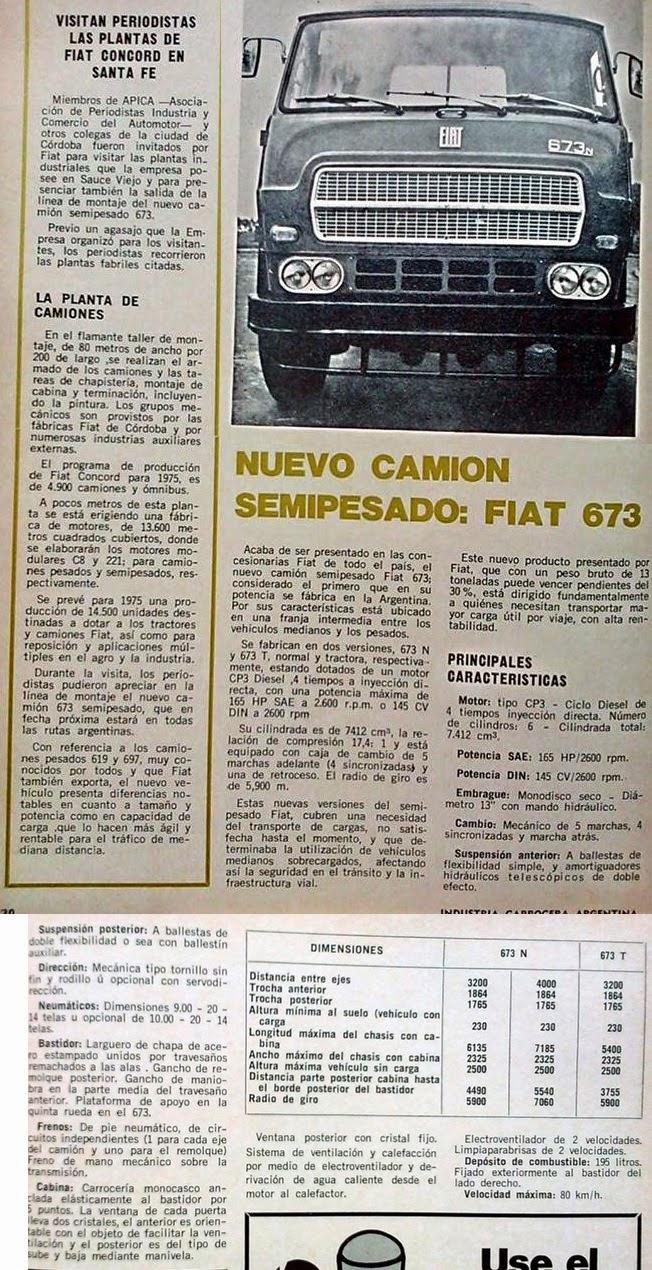 Camión Argentino: Fiat 673