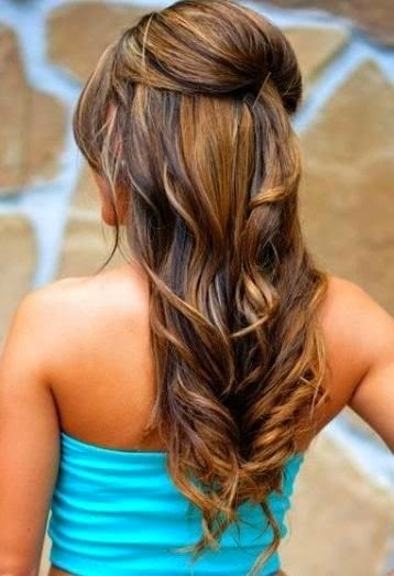 Easy hairstyle with curls