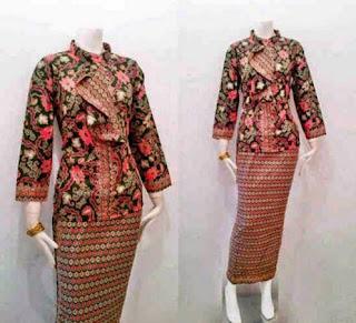 model baju batik untuk wanita kantoran