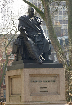 Statue of Charles James Fox, Bloomsbury Square, London