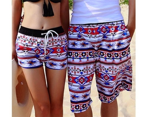 colorful beach shorts for women