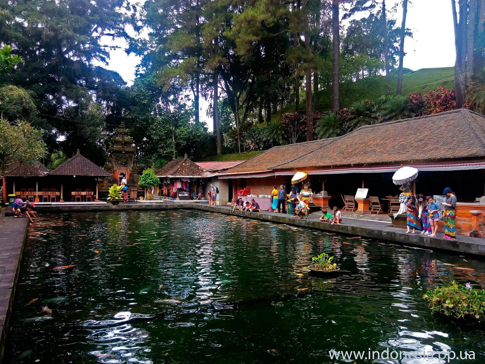 храмовый комплекс Pura tirta empul басейн