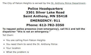 Saint Anthony, Minnesota Police - Servicing Falcon Heights