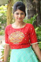 Lucky Shree Looks super cute in Bright Red Green Anarkali Dress ~  Exclusive 036.JPG