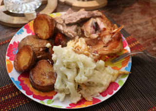 A small roast pork Sunday dinner