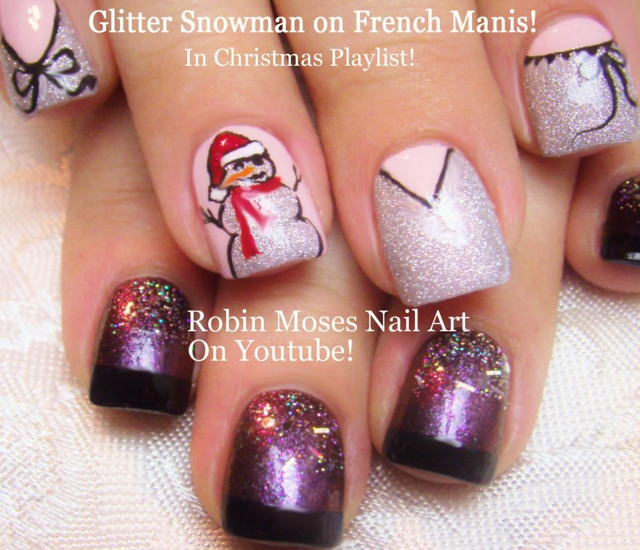"Christmas Nail Art Designs Gallery: Nail Art By Robin Moses: ""snowman Nails"" ""snowman Clip Art"