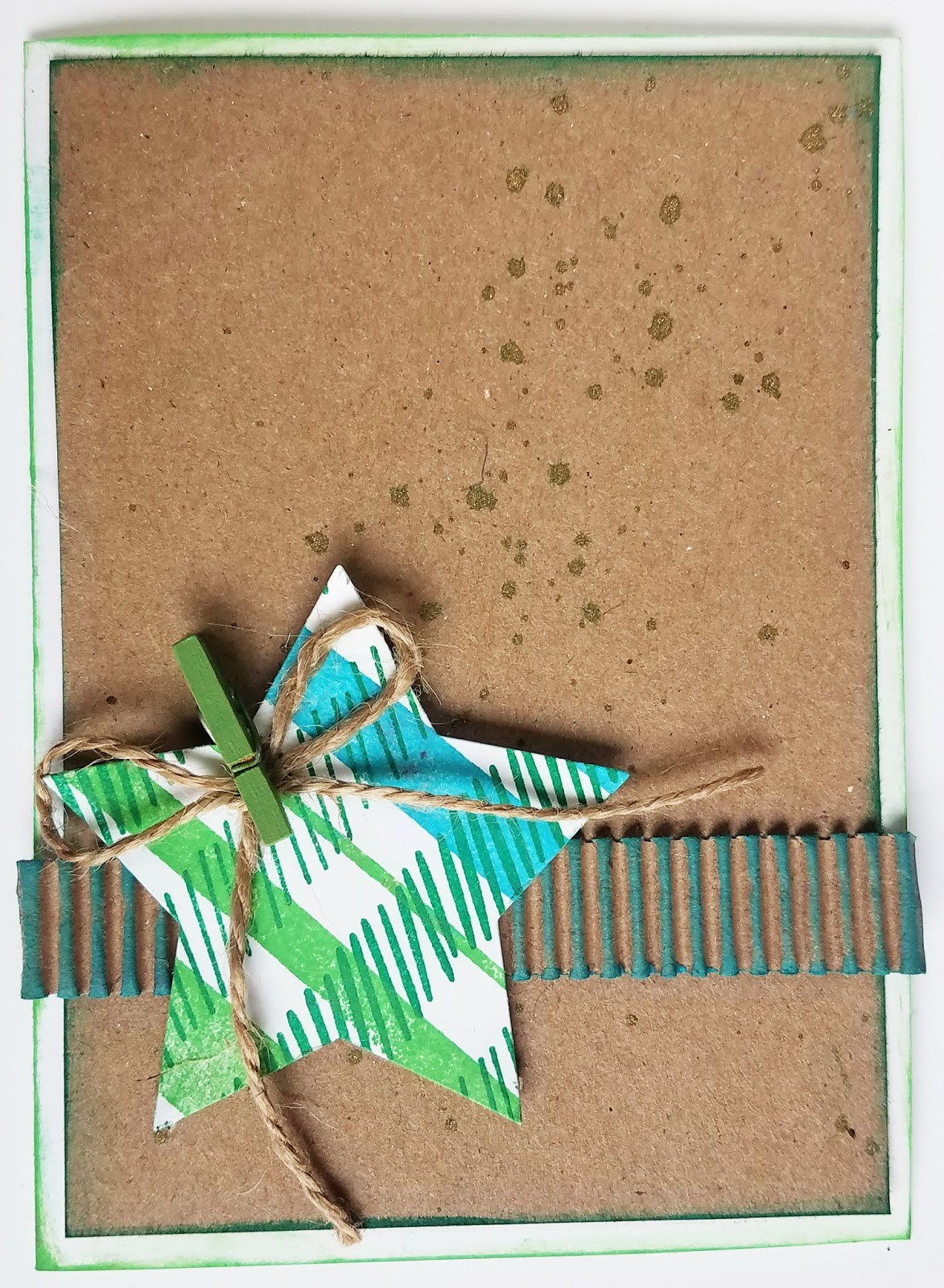 scraps of reflection: Rustic Plaid Star Christmas Cards for a Card Swap