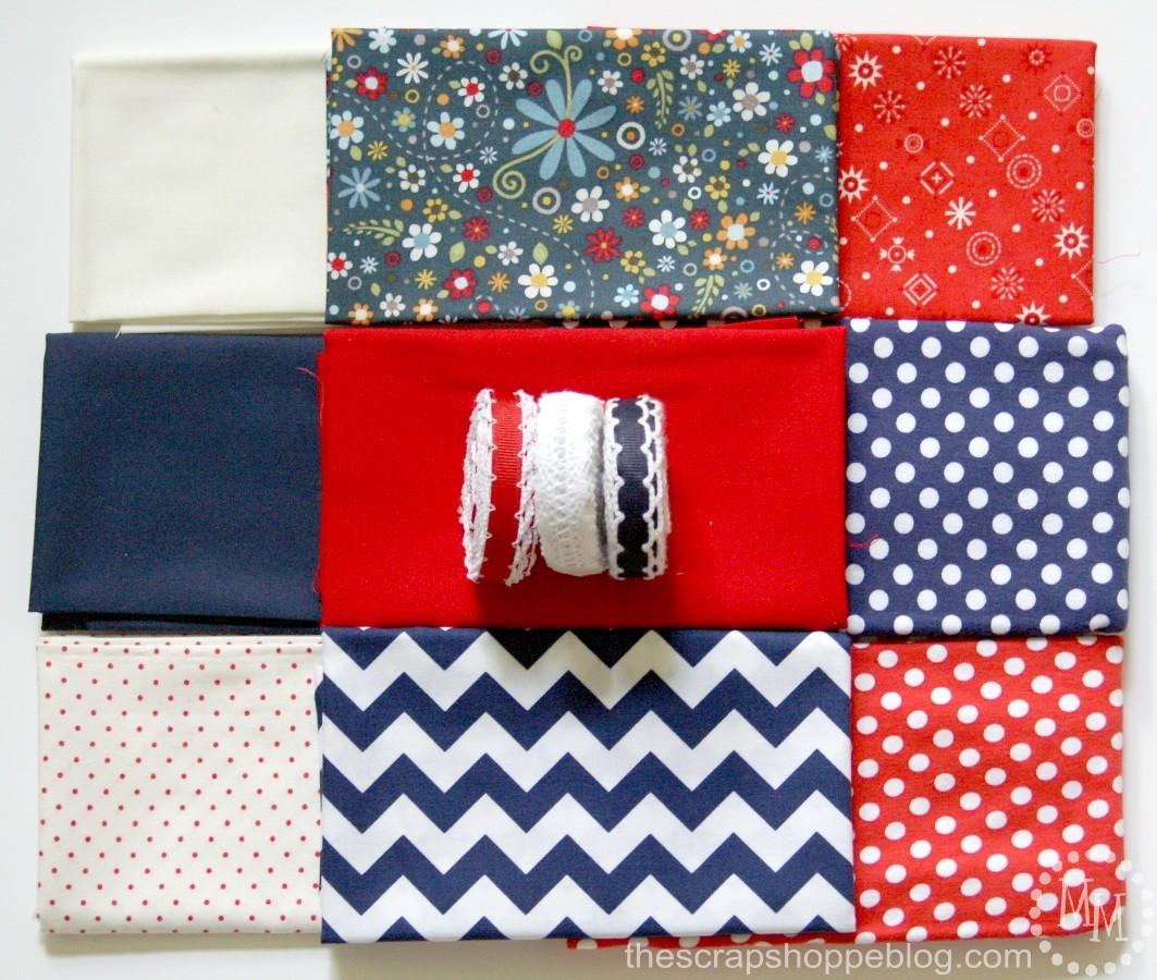 Rag Ribbon Garland fabric and supplies
