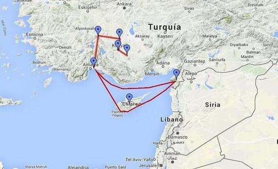 Mapas de los viajes de Pablo con tecnología satelital - Noticias ...