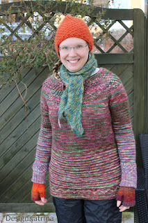 re-knitted Ileana Pullover knitted by DesignKatrina.se