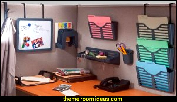 Decorating theme bedrooms maries manor office cubicle Office desk decoration ideas
