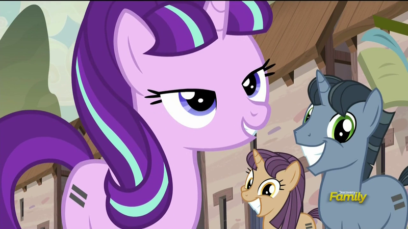Starlight Glimmer and creepy smiling ponies