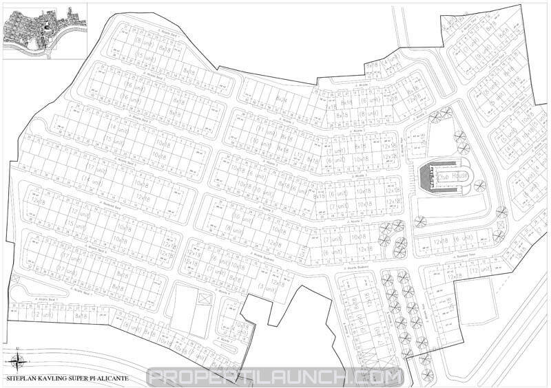 Site plan cluster Alicante Village