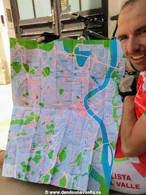 Mapa de carriles bici en Burdeos, Francia