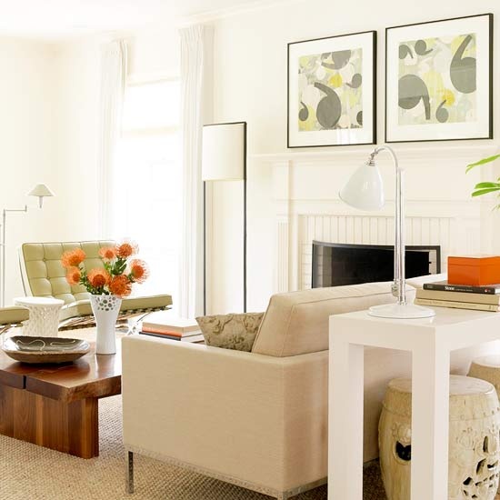 2013 Neutral Living Room Decorating Ideas From Bhg: 2013 Contemporary Living Room Decorating Ideas From BHG