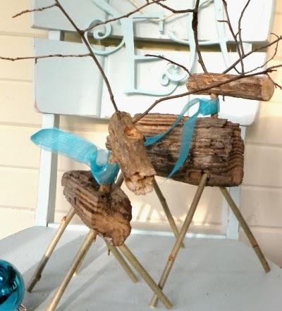 driftwood reindeers
